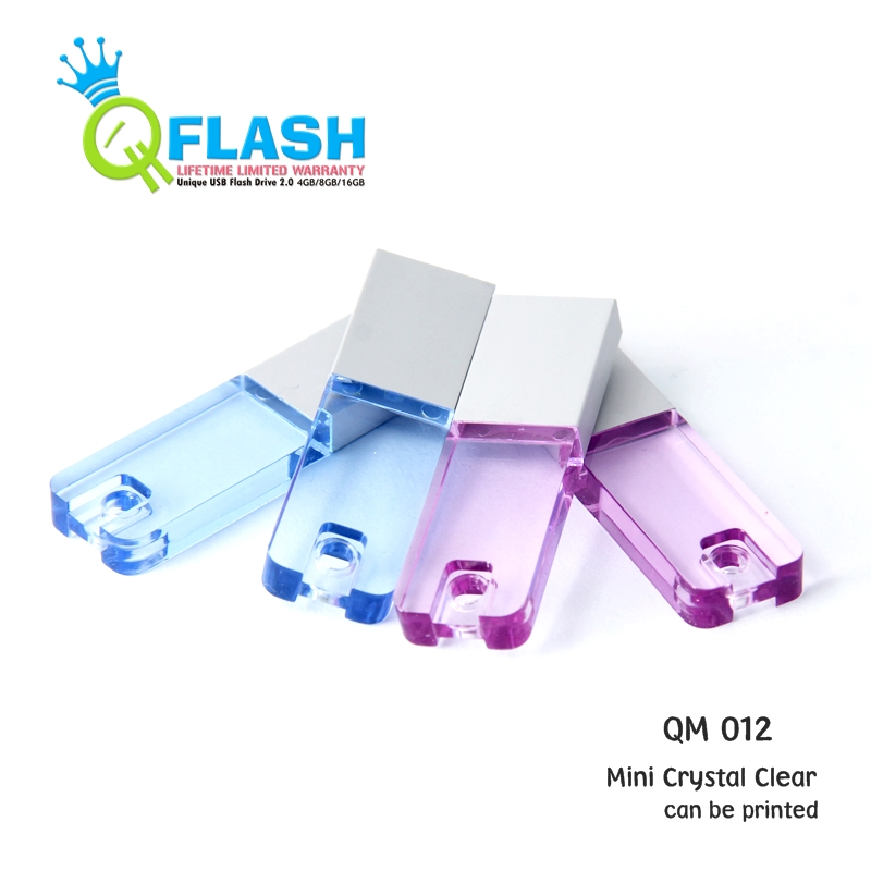 Flashdisk unik Mini Crystal Clear (QM 012)