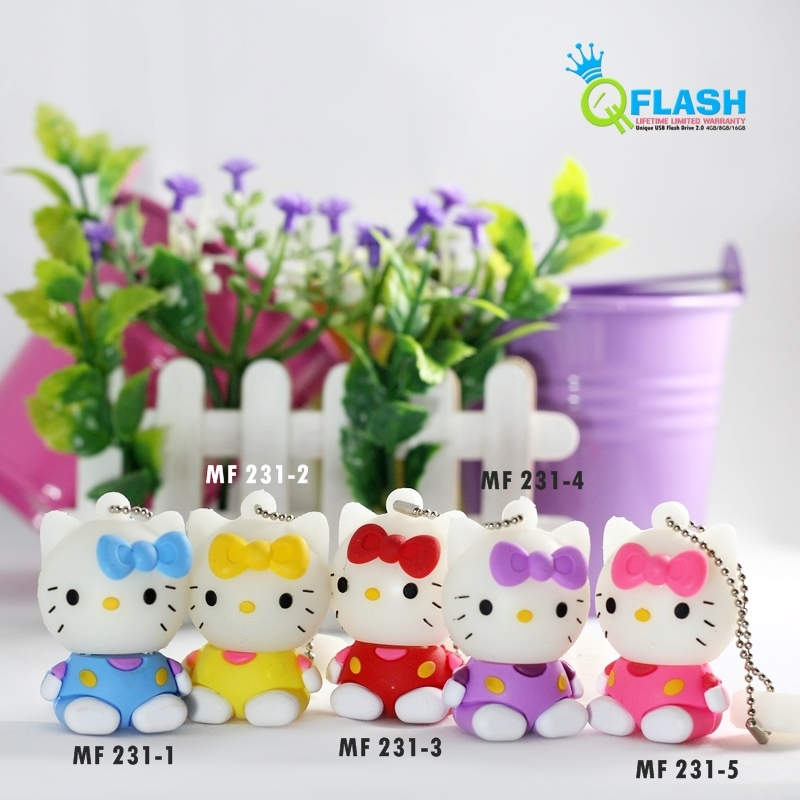 Flashdisk unik karakter Hello Kitty Duduk (MF 231)